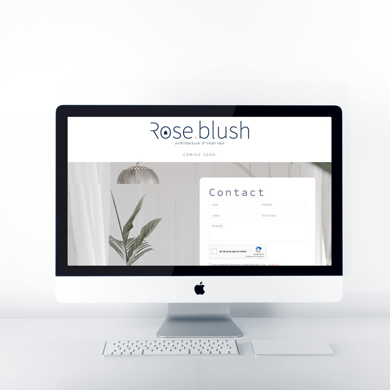 site web rose blush agence pimp my ideas