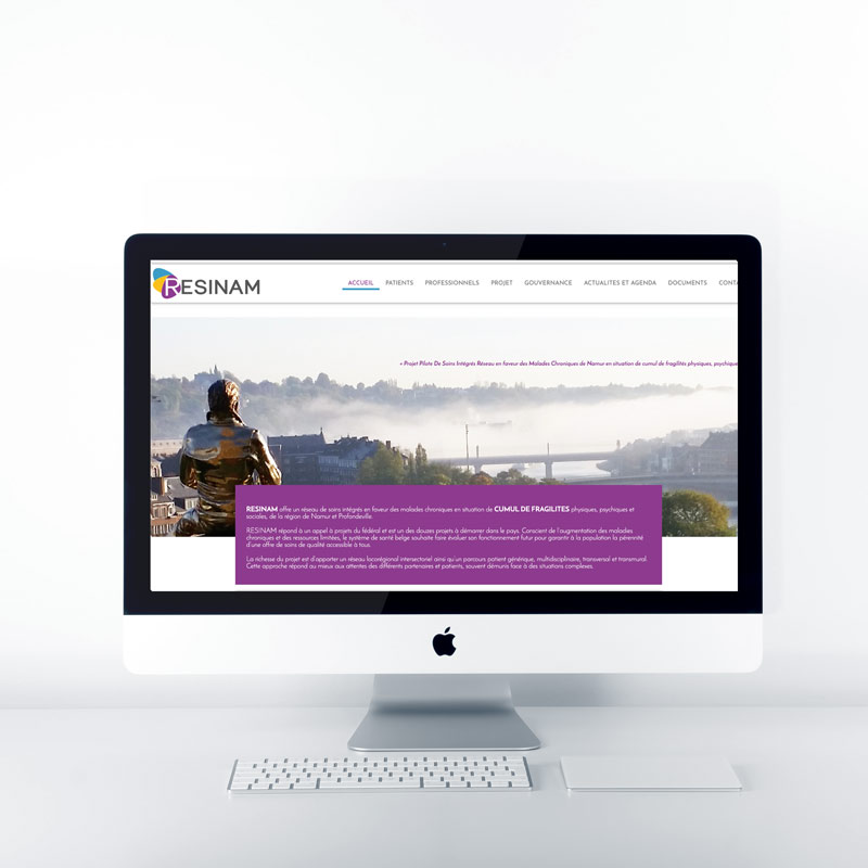 site web resinam creation agence pimp my ideas