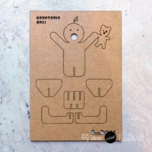 collab pimp my ideas labric carte naissance papertoy 3D à plat