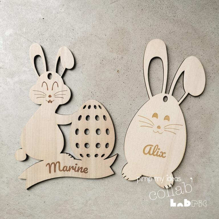 collab pimp my ideas labric petit Oeuf lapin de Pâques en bois