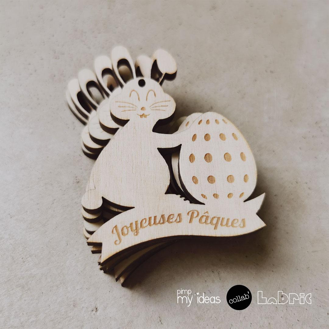 collab pimp my ideas labric lapin de Pâques en bois