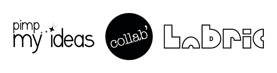 logo collab pimp my ideas labric design lasercut
