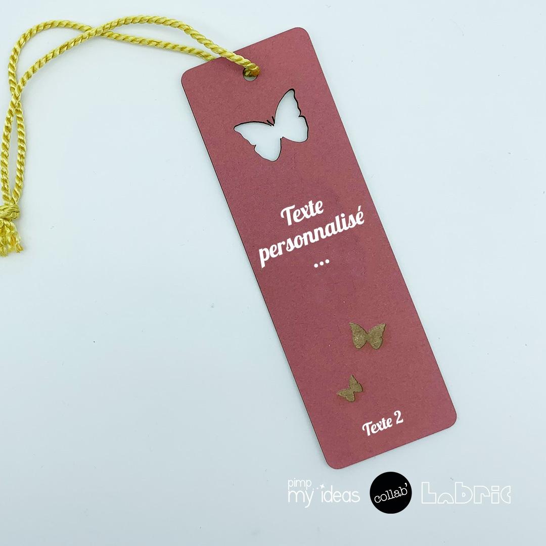 marque page personnalise papillon pimp my ideas collab labric