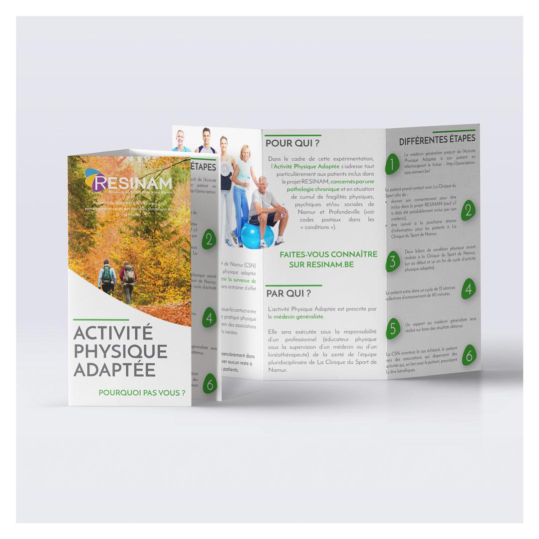 flyers activite physique resinam agence pimp my ideas
